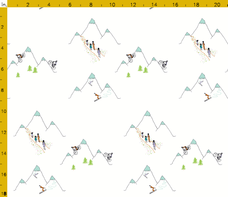 Mountain play in warm white. Available in fabric, wallpaper and gift wrap. By Calm Cradle Photo & Design