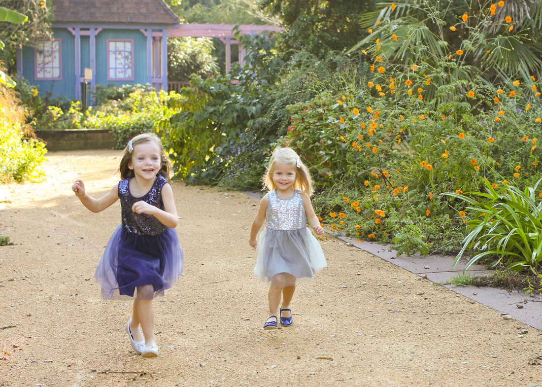 Portraits: Run, jump, twirl, repeat. (Fall garden portrait session.) By Calm Cradle Photo & Design