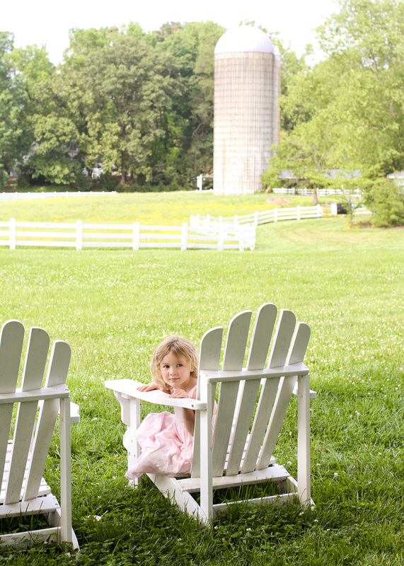 Lifestyle portraits: 4 years old at Fearrington Village. Pittsboro, NC. (Rural, farm, pasture, field.) Photography by Calm Cradle Photo & Design. Chapel Hill, North Carolina.