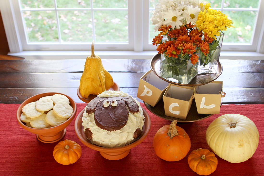 Fall birthday party display. Calm Cradle Photo & Design