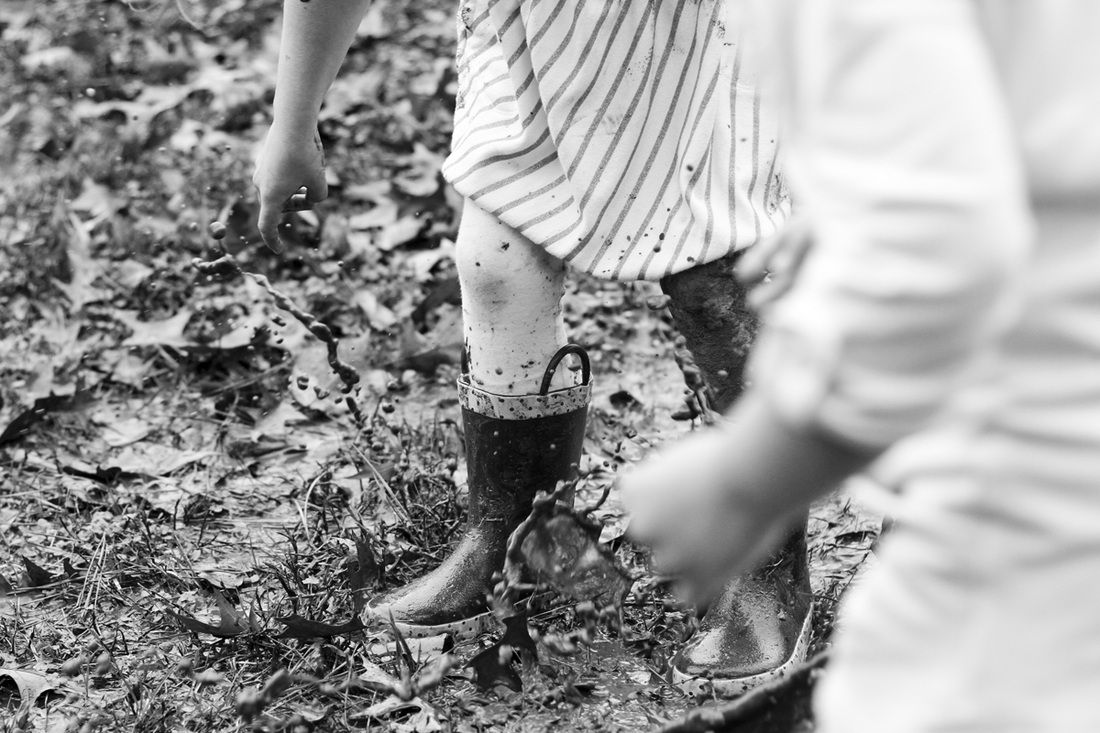 Mud puddle jumping. By Calm Cradle Photo & Design