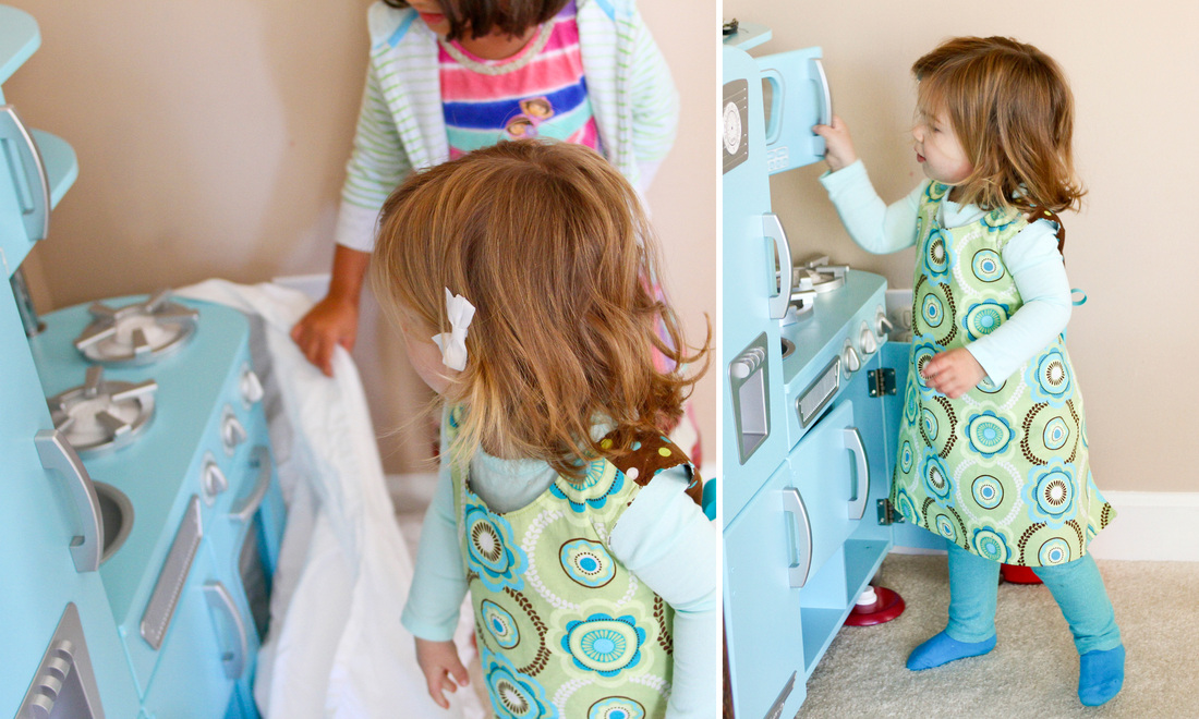 Play kitchen reveal. Calm Cradle Photo & Design