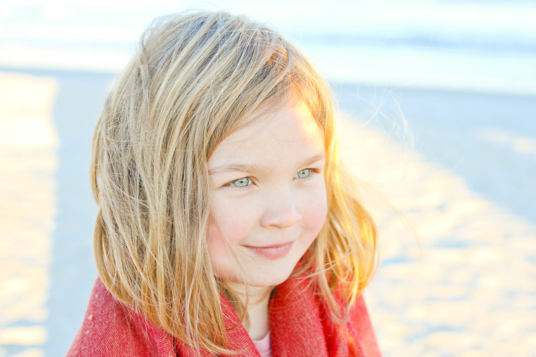 Fall beach portraits: She turns 4. By Calm Cradle Photo & Design