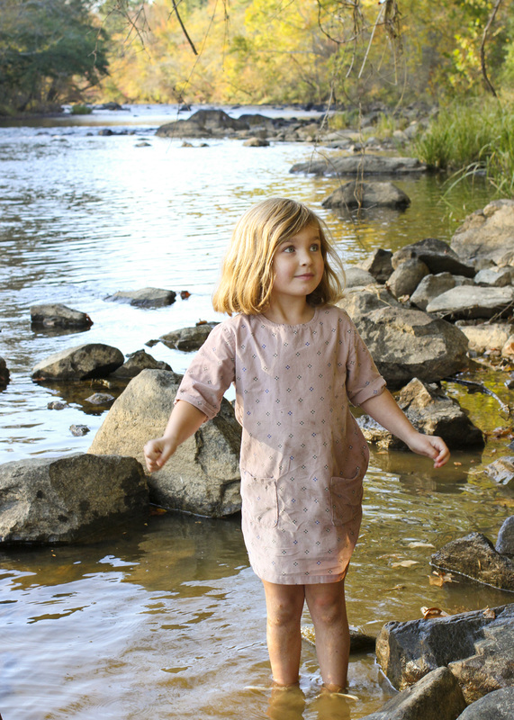 Portraits: 5 years old along the river. Haw River, NC. By Calm Cradle Photo & Design