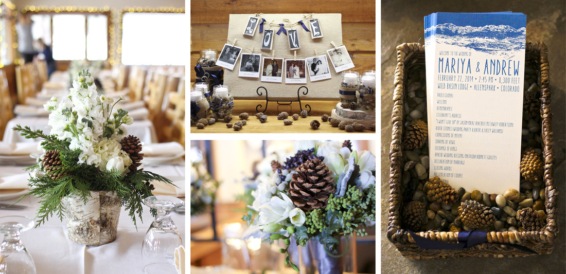 The details. Winter wedding at Wild Basin Lodge. Allenspark, Colorado. By Calm Cradle Photo & Design