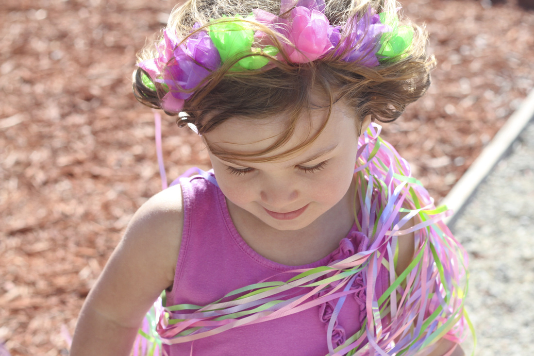 Wreath in her hair. By Calm Cradle Photo & Design