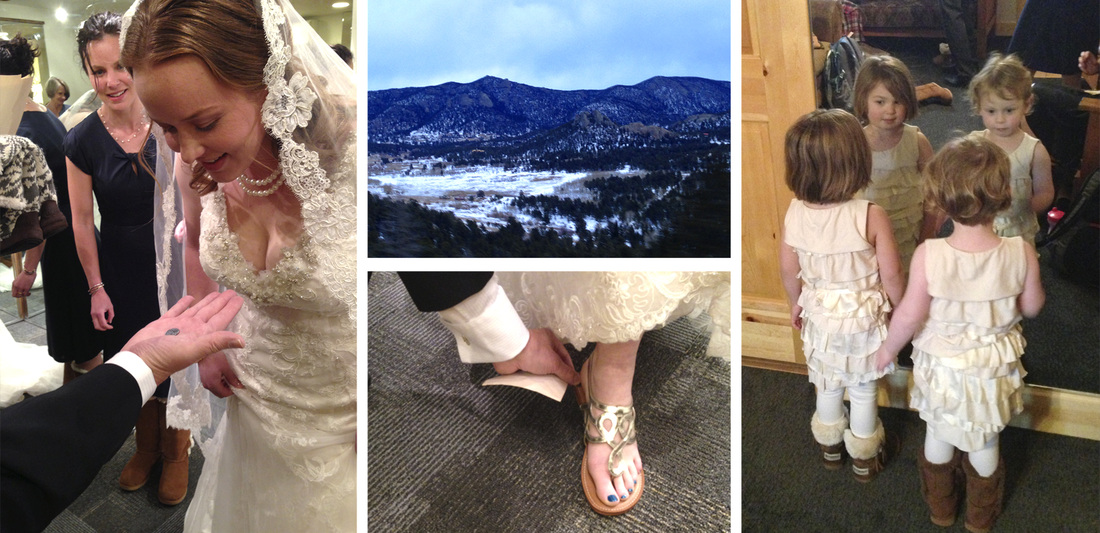 Rocky Mountain wedding preps. By Calm Cradle Photo & Design