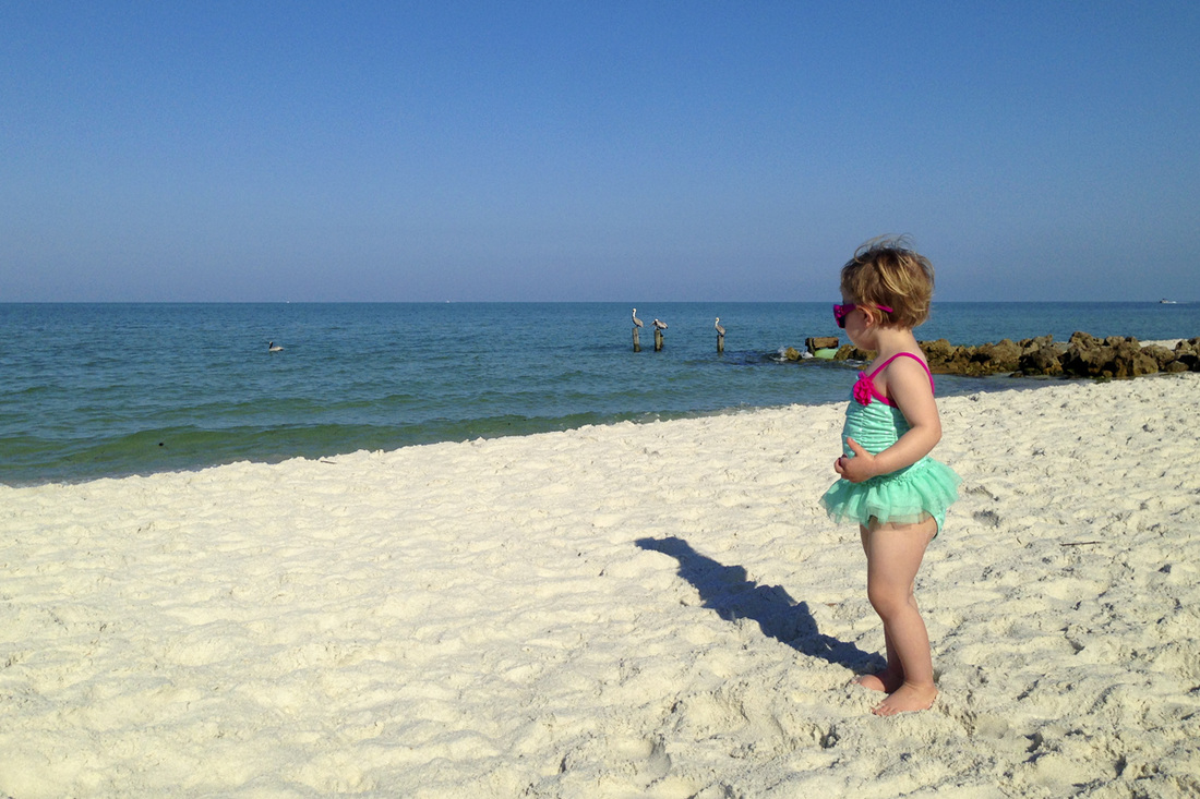 Toddler at the beach. Naples, Florida. By Calm Cradle Photo & Design