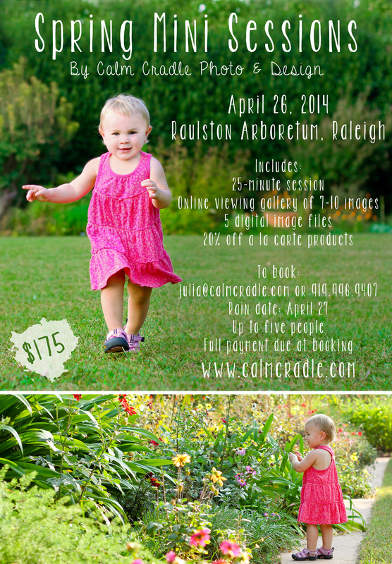 Now booking spring mini sessions. Raleigh, NC. By Calm Cradle Photo & Design #childrensphotography #minisession #portraits #calmcradle