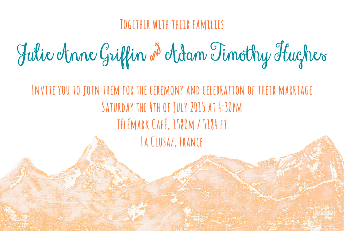 Design: Invitations for a wedding in the French Alps. By Calm Cradle Photo & Design