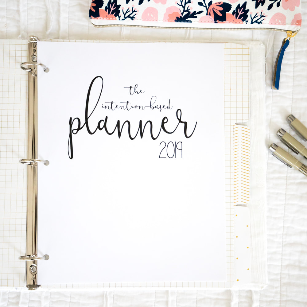 The Intention-Based Planner. Printable planner, journal and record of travel, projects, and events. By Calm Cradle Photo & Design and Mari Melby