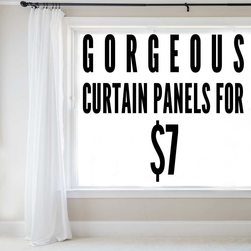 Gorgeous curtain panels for just $7 each! Such a great DIY idea. By Calm Cradle Photo & Design