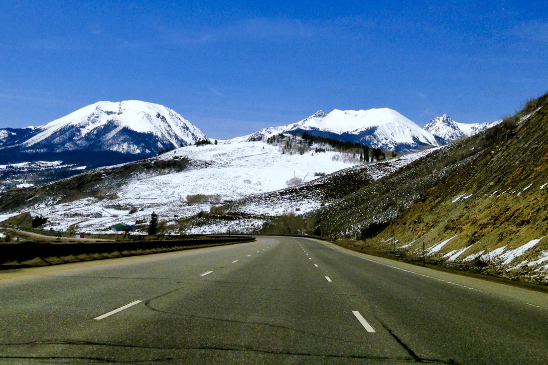 Approaching the Gore Range from I-70. Buffalo Mountain and Red Peak. Summit County, Colorado. Calm Cradle Photo & Design
