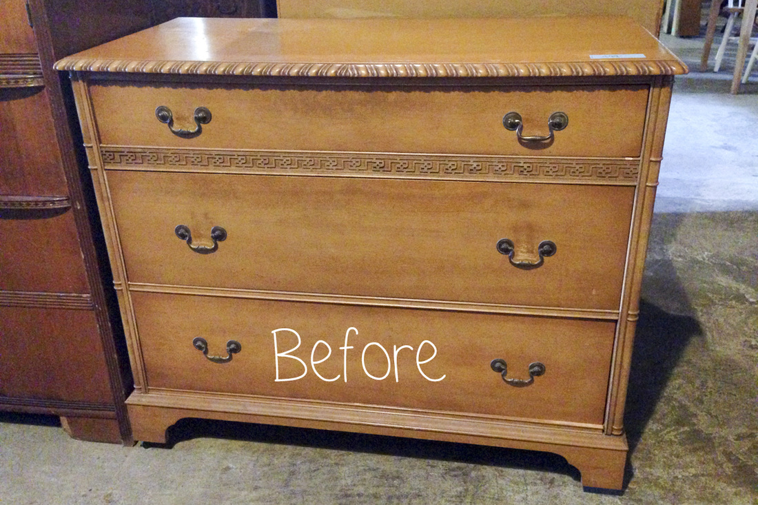 Around the house: Chalk paint dresser makeover. Before/after. Nursery preview. Benjamin Moore Blueberry. By Calm Cradle Photo & Design