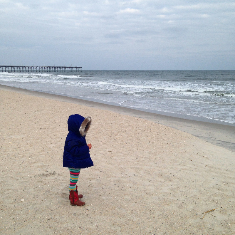 Bundled at the fall beach. Carolina Beach, North Carolina. By Calm Cradle Photo & Design