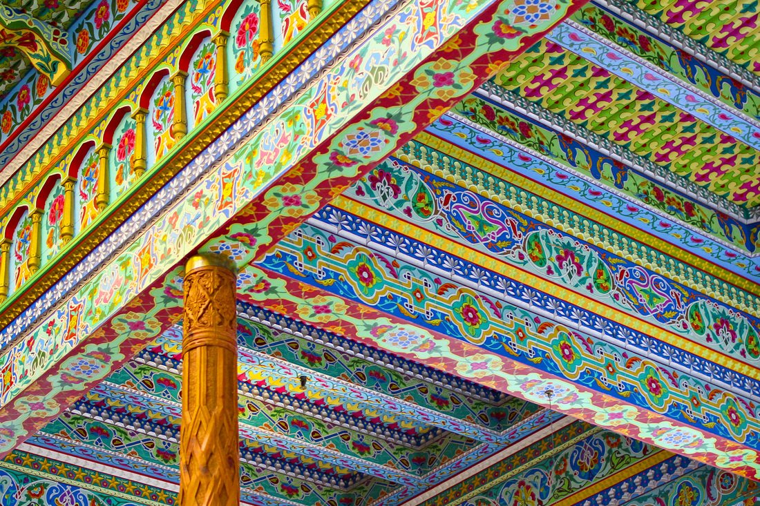 Ceiling detail from The Boulder Dushanbe Teahouse. Colorado. Calm Cradle Photo & Design