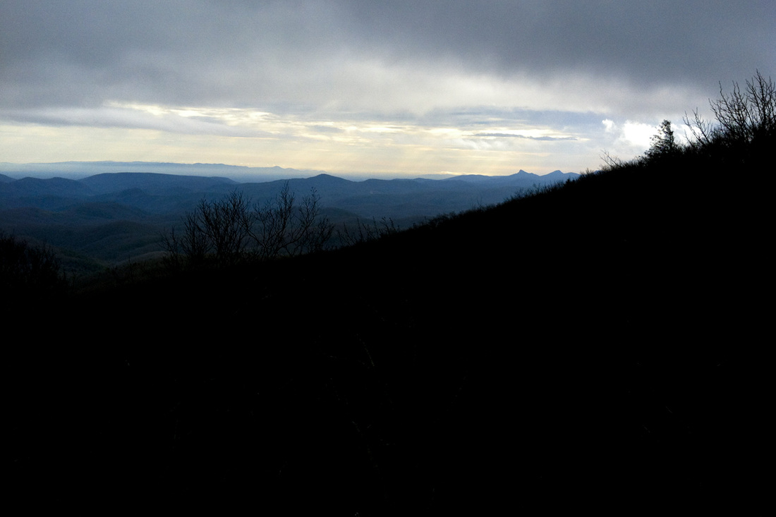 Mountain view from the Blue Ridge Parkway, NC. Calm Cradle Photo & Design