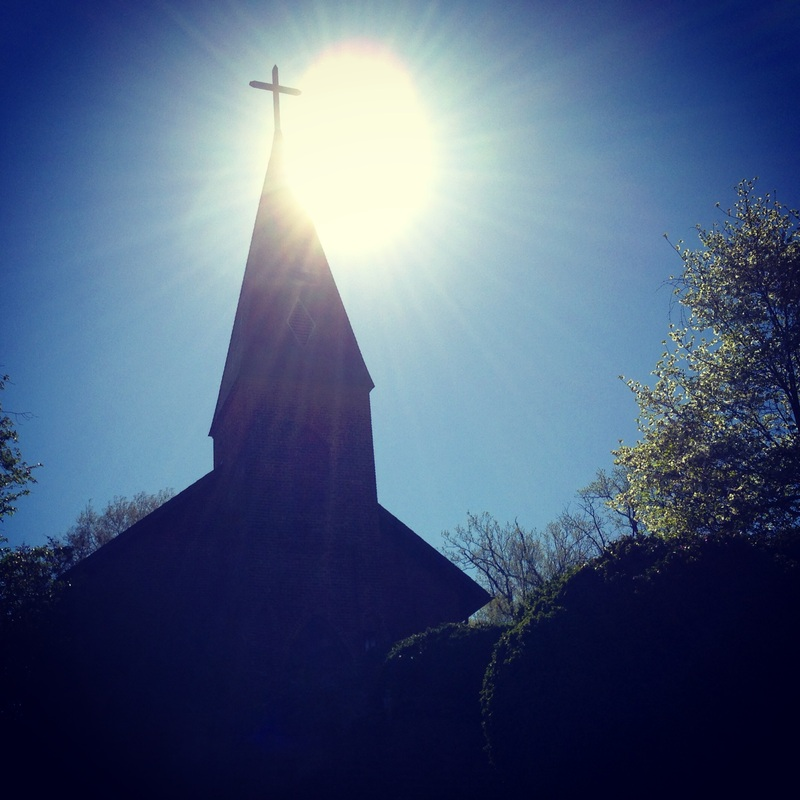 St. Matthew's Episcopal Church silhouetted in the morning sun. Hillsborough, NC. Julia Soplop / Calm Cradle Photo & Design