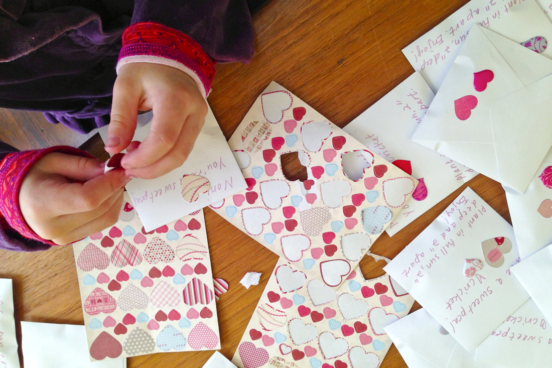 Little hands making Valentines. By Calm Cradle Photo & Design