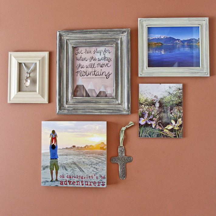 Gallery wall. Toddler bedroom tour. Calm Cradle Photo & Design
