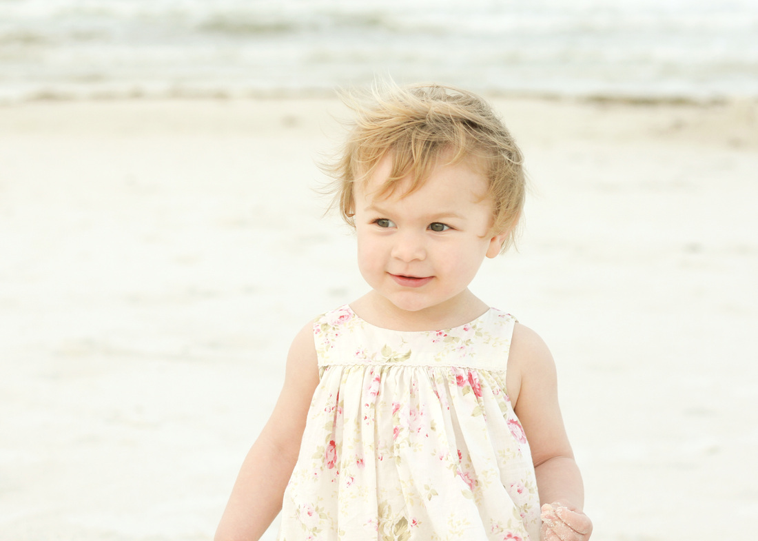Portraits: 2-year-old at the beach. By Calm Cradle Photo & Design