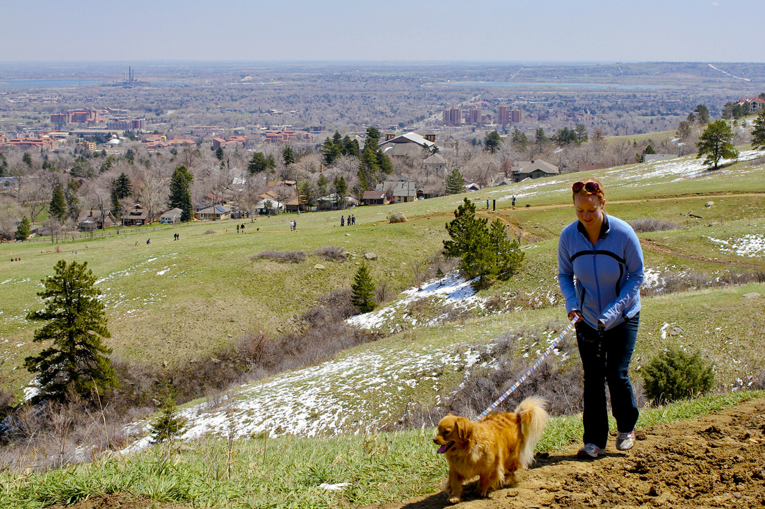 View of Boulder from above Chautauqua. Colorado. Calm Cradle Photo & Design