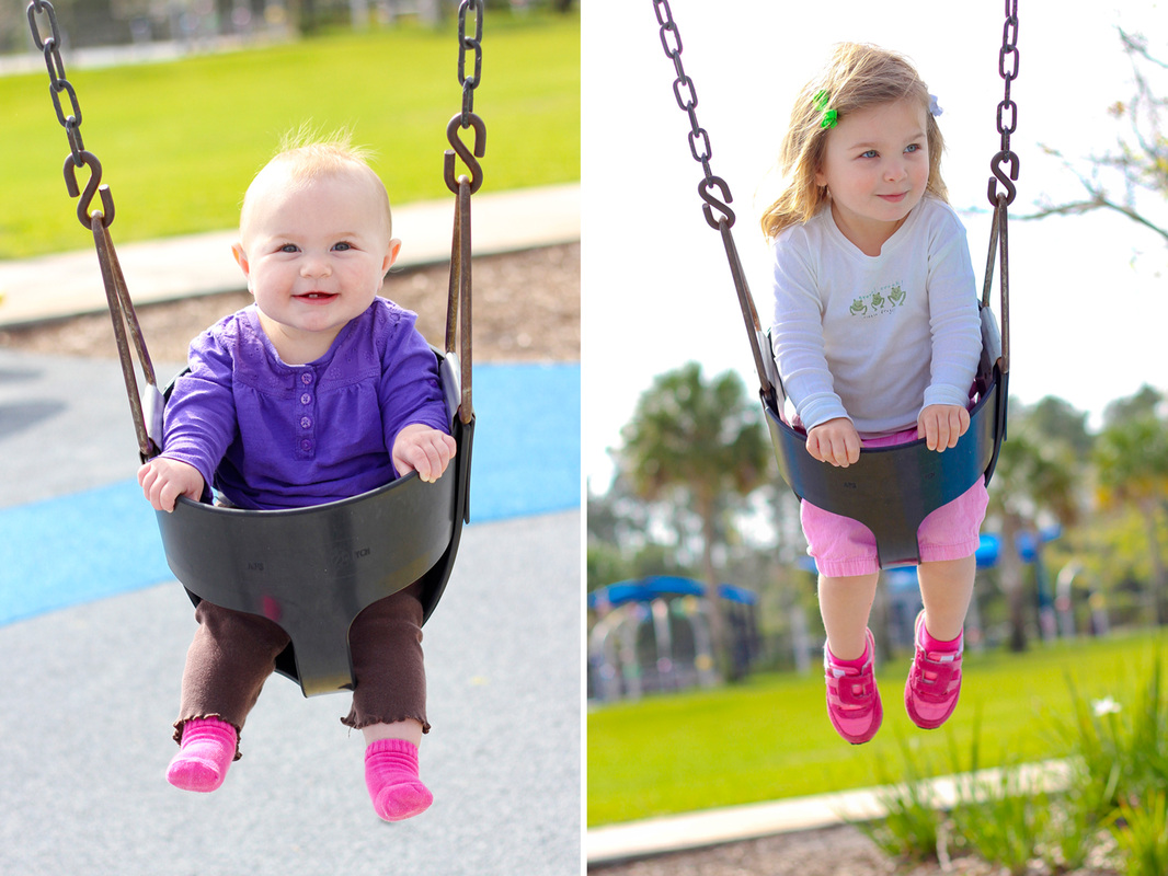 Swings at Dr. P. Phillips Community Park. Orlando, Florida. Calm Cradle Photo & Design