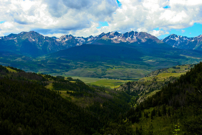 Gore Range with ranches below. Summit County, Colorado. By Calm Cradle Photo & Design