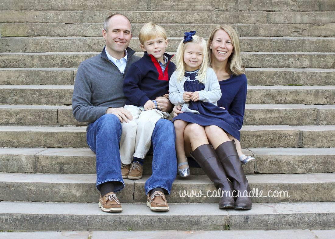 Portraits: Family of four at Duke Gardens. By Calm Cradle Photo & Design