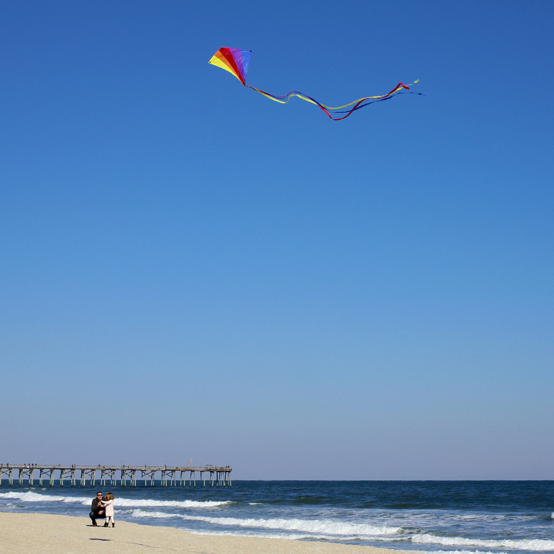 Let's go fly a kite. Carolina Beach, North Carolina. By Calm Cradle Photo & Design