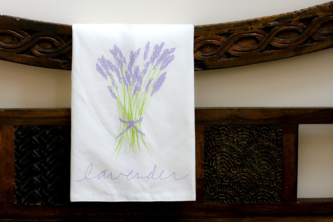 Cut-and-sew lavender tea towel by Calm Cradle Photo & Design