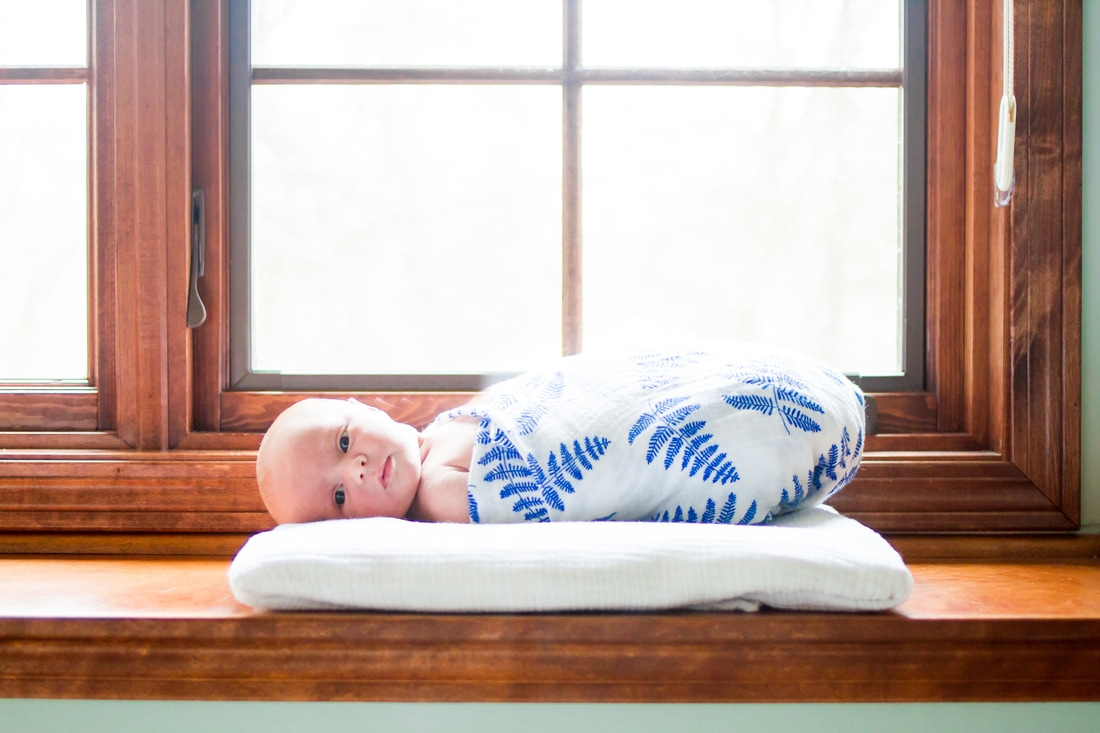 Lifestyle portraits: In-home newborn session + birth announcement design. (Minneapolis, MN) By Calm Cradle Photo & Design (Chapel Hill, NC)