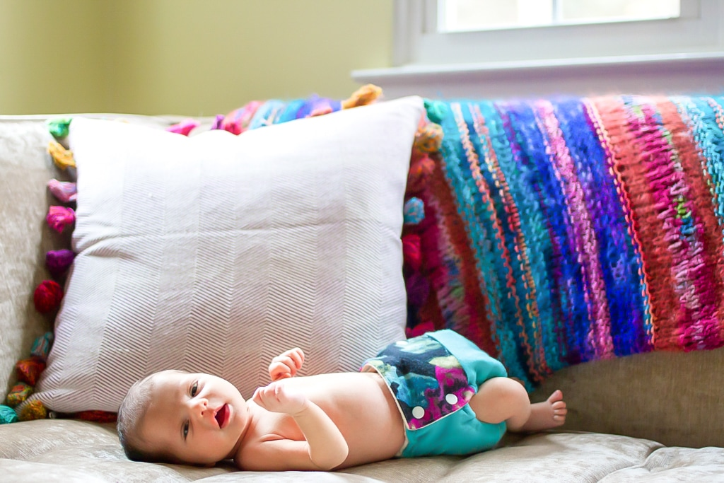 Lifestyle portraits: Bright and bold in-home newborn session. (Durham, NC) By Calm Cradle Photo & Design (Chapel Hill, NC)